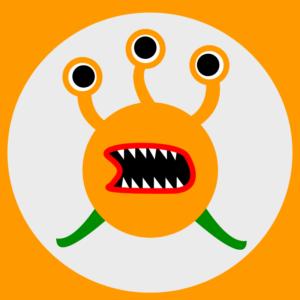 オレンジ色のモンスター