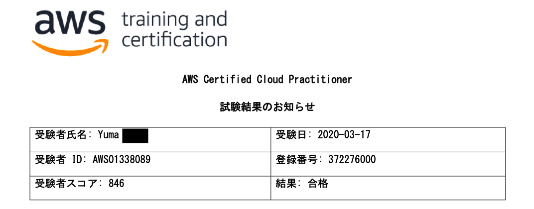 AWSCLF_試験結果