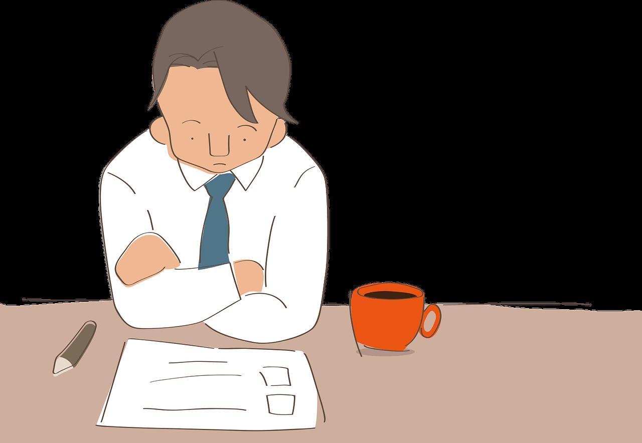 転職で悩む男性
