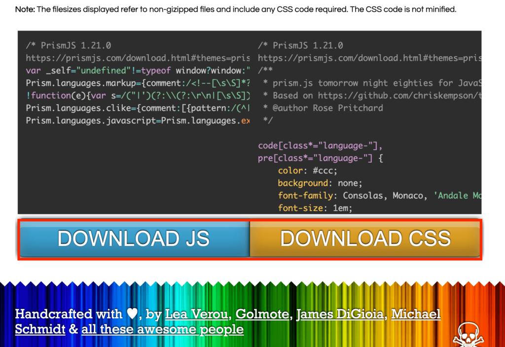 JSとCSSファイルをダウンロード